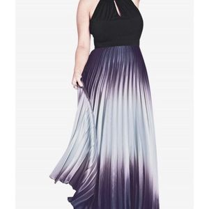 City Chic Silver Siren Maxi - Excellent Condition